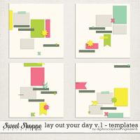 Lay Out Your Day Templates Vol.1 by Digital Scrapbook Ingredients