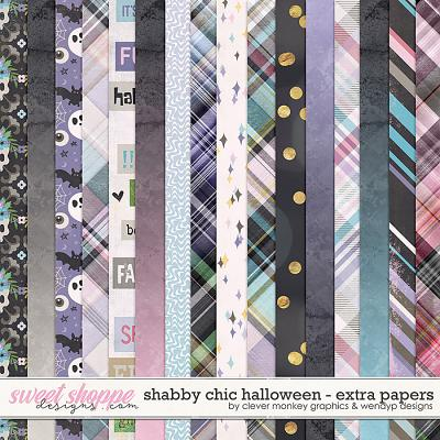 Shabby Chic Halloween Extra Paper Pack by Clever Monkey Graphics & WendyP Designs