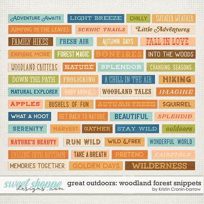 Great Outdoors: Woodland Forest snippets by Kristin Cronin-Barrow