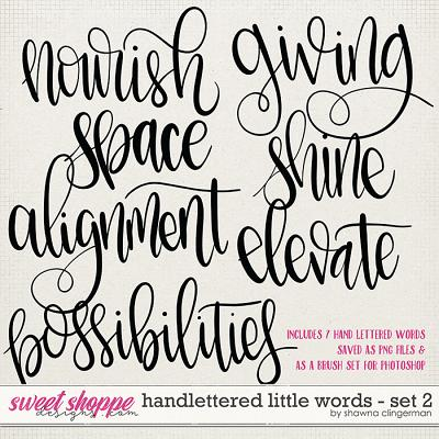 Handlettered Little Words - Set 2 by Shawna Clingerman