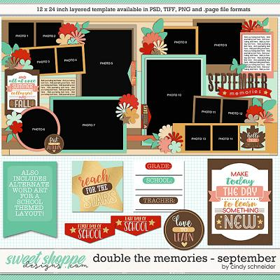 Cindy's Layered Templates - Double the Memories: September by Cindy Schneider