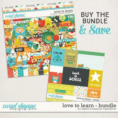Love To Learn Bundle by Digital Scrapbook Ingredients