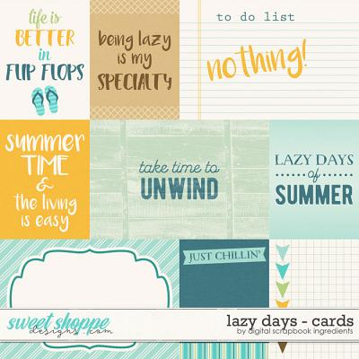 Lazy Days | Journal Cards by Digital Scrapbook Ingredients