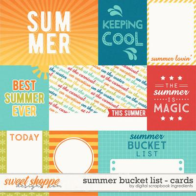 Summer Bucket List | Journal Cards by Digital Scrapbook Ingredients