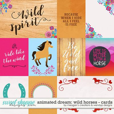 Animated Dream: Wild Horses Cards by Meagan's Creations & WendyP Designs