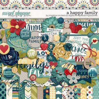 A Happy Family by Digital Scrapbook Ingredients & Meghan Mullens