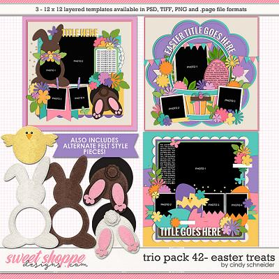 Cindy's Layered Templates - Trio Pack 42: Easter Treats by Cindy Schneider