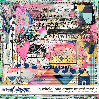 A Whole Lotta Crazy Mixed Media by Simple Pleasure Designs and Studio Basic