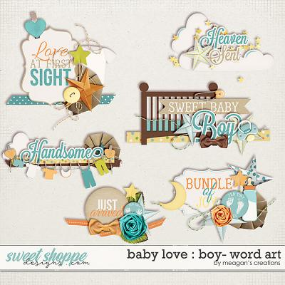 Baby Love {Boy} : Word Art by Meagan's Creations