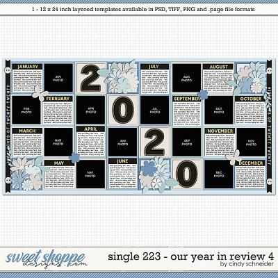 Cindy's Layered Templates - Single 223: Our Year in Review 4 by Cindy Schneider