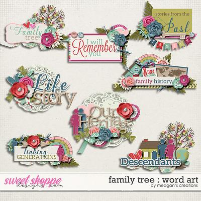 Family Tree : Word Art by Meagan's Creations