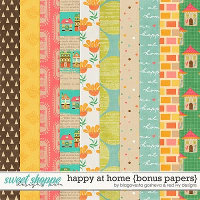 Happy at Home - Bonus Papers by Blagovesta Gosheva & Red Ivy Design