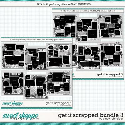 Cindy's Layered Templates - Get It Scrapped Bundle 3 by Cindy Schneider