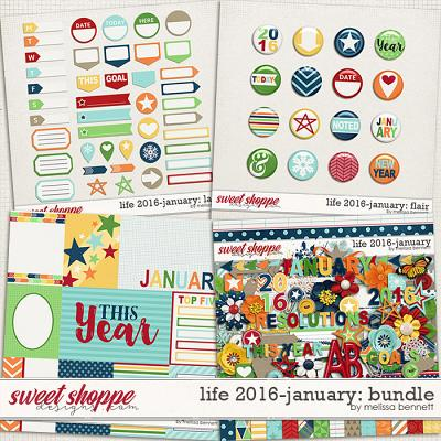 Life 2016-January Bundle by Melissa Bennett