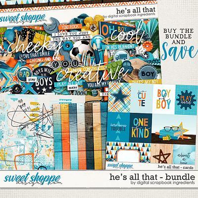 He's All That Bundle by Digital Scrapbook Ingredients