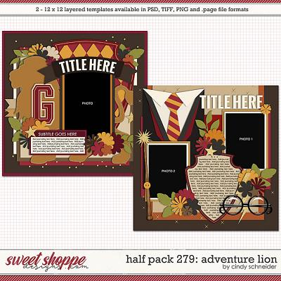 Cindy's Layered Templates - Half Pack 279: Adventure Lion by Cindy Schneider