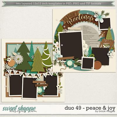 Brook's Templates - Duo 49 - Peace & Joy by Brook Magee