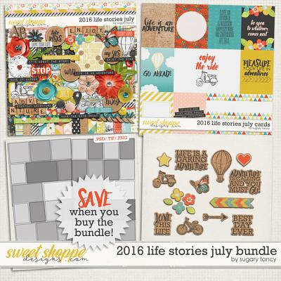 2016 Life Stories - July Bundle by Sugary Fancy