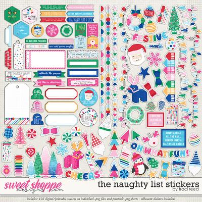 The Naughty List Stickers by Traci Reed