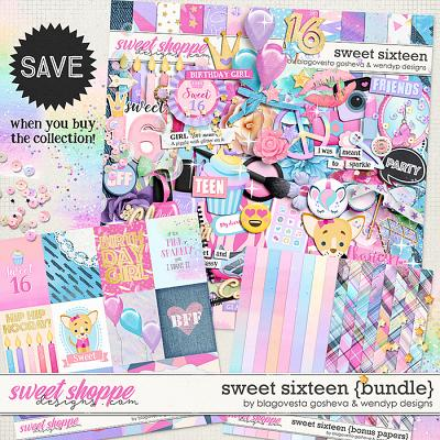 Sweet 16 - Bundle by Blagovesta Gosheva & WendyP Designs