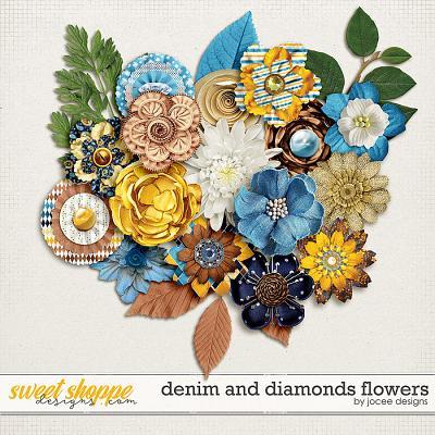 Denim and Diamonds Flowers by JoCee Designs
