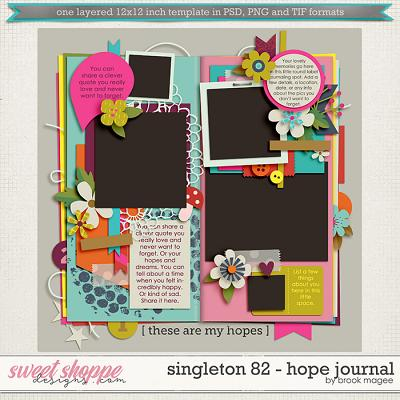Brook's Templates - Singleton 82 - Hope Journal by Brook Magee