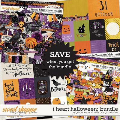 I Heart Halloween: Adults & Kids Double Bundle by Grace Lee and Kelly Bangs Creative