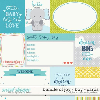 Bundle Of Joy - Boy | Cards by Digital Scrapbook Ingredients