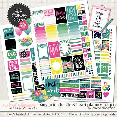Hustle & Heart Planner Pages by Shawna Clingerman