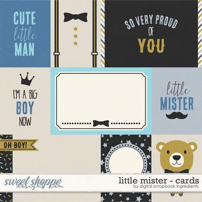 Little Mister | Cards by Digital Scrapbook Ingredients