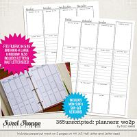 365Unscripted: Planning: Week On 2 Pages by Traci Reed