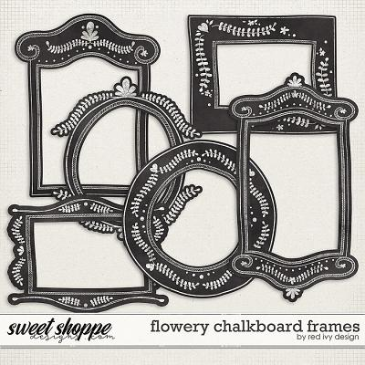 Flowery Chalkboard Frames by Red Ivy Design