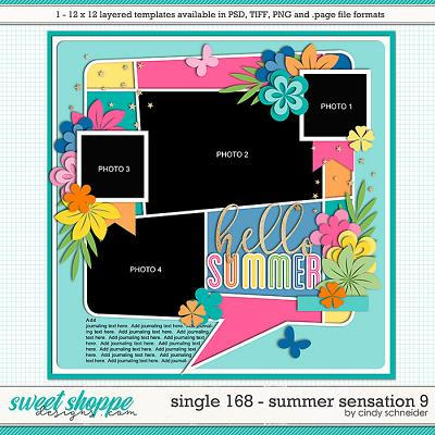 Cindy's Layered Templates - Single 168: Summer Sensation 9 by Cindy Schneider