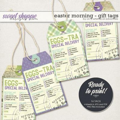 Easter Morning Eggs-tra Delivery Tags by On A Whimsical Adventure