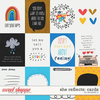 She reflects: Cards by Amanda Yi