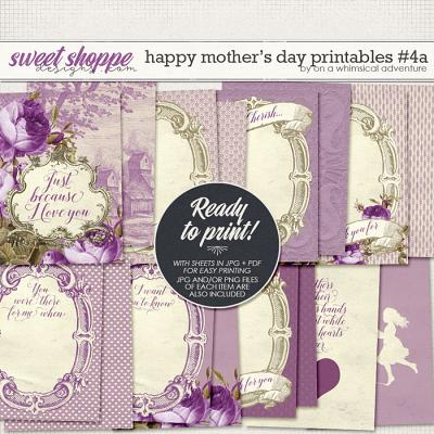 Happy Mother's Day Printable Journal Cards Purple by On A Whimsical Adventure