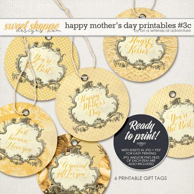 Happy Mother's Day Printable Round Labels Yellow by On A Whimsical Adventure