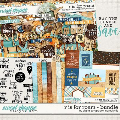 R is for Roam Bundle by Digital Scrapbook Ingredients
