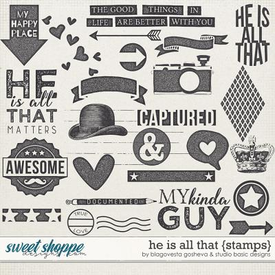 He Is All That Stamps by Blagovesta Gosheva and Studio Basic