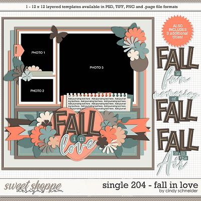 Cindy's Layered Templates - Single 204: Fall in Love by Cindy Schneider