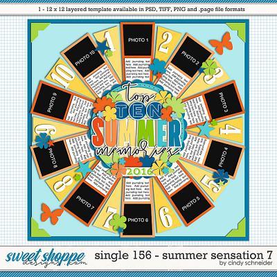 Cindy's Layered Templates - Single 156: Summer Sensation 7 by Cindy Schneider