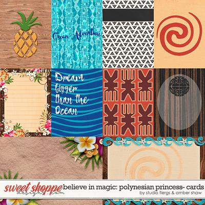 Believe in Magic: Polynesian Princess Cards by Amber Shaw & Studio Flergs