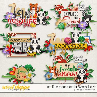 At the Zoo: Asia Word Art by Meagan's Creations