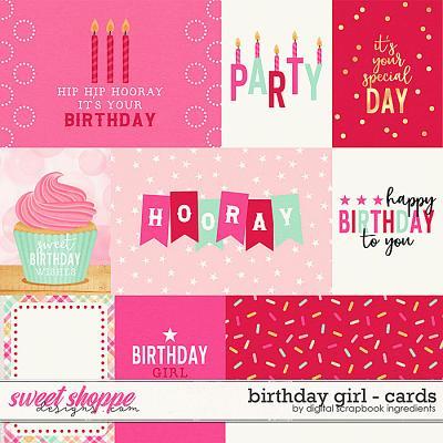 Birthday Girl | Cards by Digital Scrapbook Ingredients