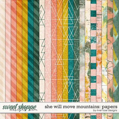 She Will Move Mountains: Papers by River Rose Designs