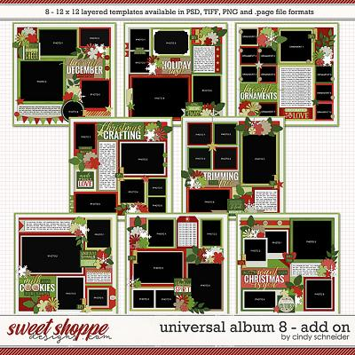 Cindy's Layered Templates - Universal Album 8: Add-on by Cindy Schneider
