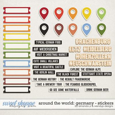 Around the world: Germany - Stickers by Amanda Yi & WendyP Designs