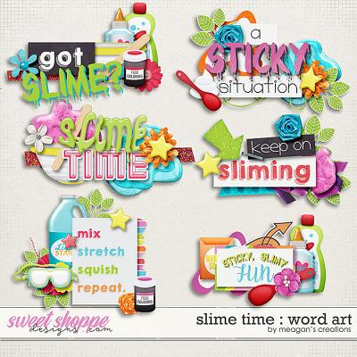 Slime Time: Word Art by Meagan's Creations