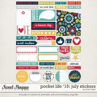 Pocket Life '15: July Stickers by Traci Reed