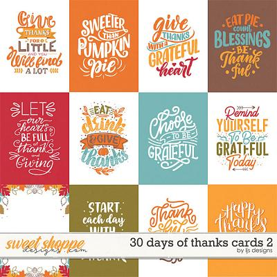 30 Days of Thanks Cards 2 by LJS Designs